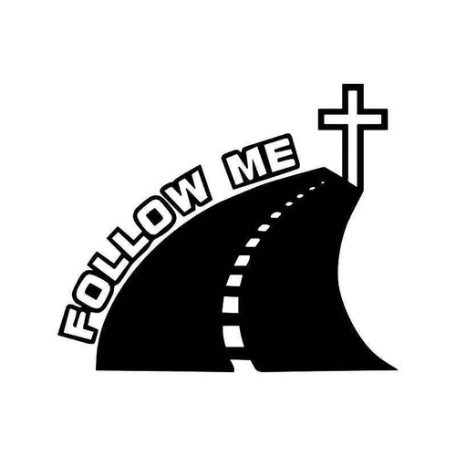 Follow Me Christian Vinyl Sticker