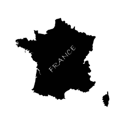 France Country Map Vinyl Sticker