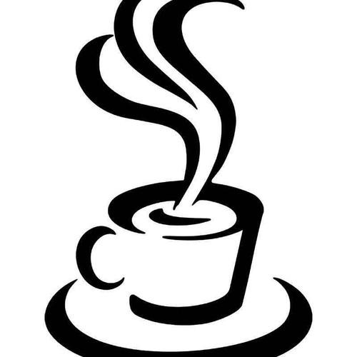Free Wi Fi Coffee Vinyl Sticker