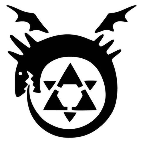 Full Metal Alchemist Homunculus Symbol 1958 Vinyl Sticker