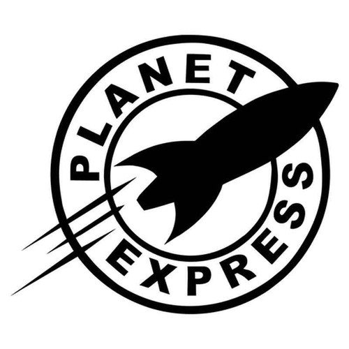 Futurama Planet Express 1961 Vinyl Sticker