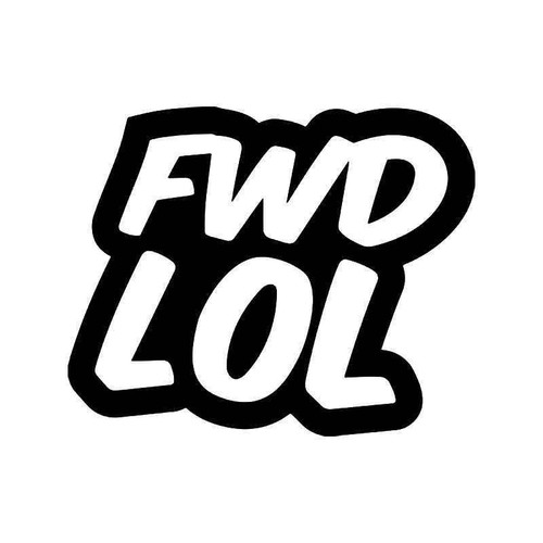 Fwd Lol Jdm Japanese Vinyl Sticker