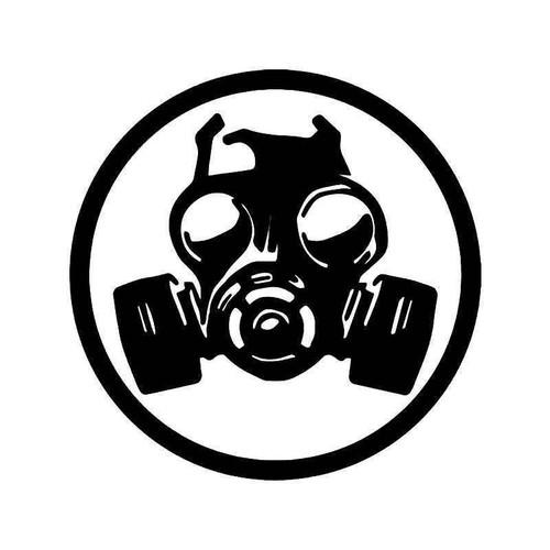 Gas Mask Biohazard Vinyl Sticker