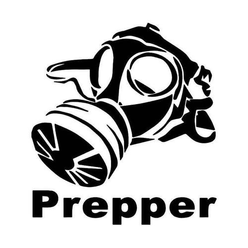 Gas Mask Prepper Biohazard Vinyl Sticker