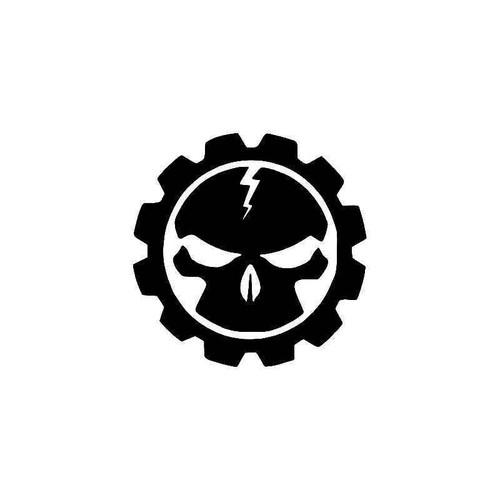 Gears Of War Skull Gaming 2 Vinyl Sticker