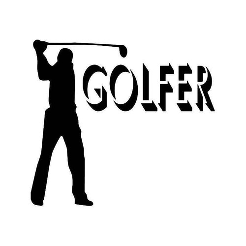 Golfer Men 1 Vinyl Sticker