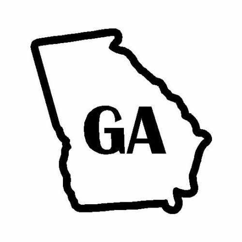Statse Georgia  Vinyl Decal Sticker  Size option will determine the size from the longest side Industry standard high performance calendared vinyl film Cut from Oracle 651 2.5 mil Outdoor durability is 7 years Glossy surface finish