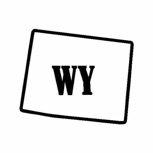 States Wyoming  Vinyl Decal Sticker  Size option will determine the size from the longest side Industry standard high performance calendared vinyl film Cut from Oracle 651 2.5 mil Outdoor durability is 7 years Glossy surface finish