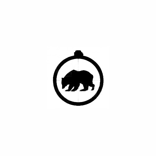 Bear in Scope Decal Size option will determine the size from the longest side Industry standard high performance calendared vinyl film Cut from Oracle 651 2.5 mil Outdoor durability is 7 years Glossy surface finish