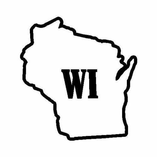 States Wisconsin  Vinyl Decal Sticker  Size option will determine the size from the longest side Industry standard high performance calendared vinyl film Cut from Oracle 651 2.5 mil Outdoor durability is 7 years Glossy surface finish