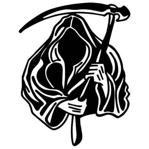 Grim Reaper Death Skull 6 Vinyl Sticker