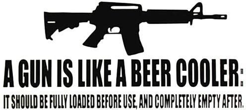 Gun Beer Vinyl Decal