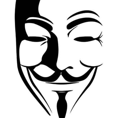 Guy Fawkes Vendetta Vinyl Sticker