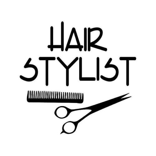 Hair Stylist Vinyl Sticker