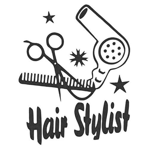 Hair Stylist Beauty Barber Vinyl Sticker