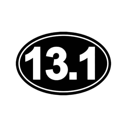 Half Marathon 13.1 Mile Vinyl Sticker