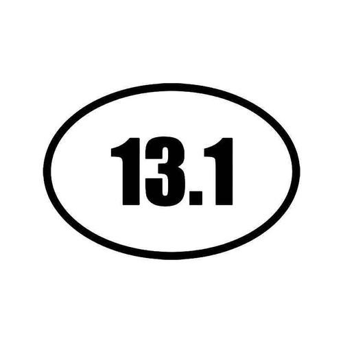 Half Marathon Runner 13.1 Vinyl Sticker