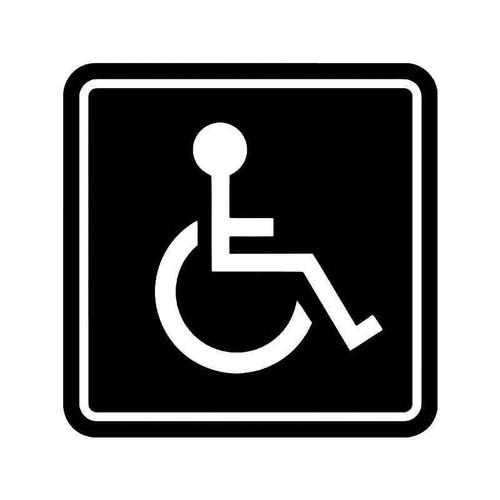 Handicap Wheelchair Sign 1 Vinyl Sticker