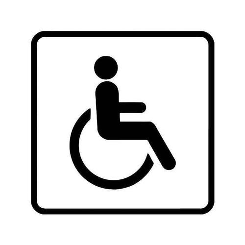 Handicap Wheelchair Sign 2 Vinyl Sticker