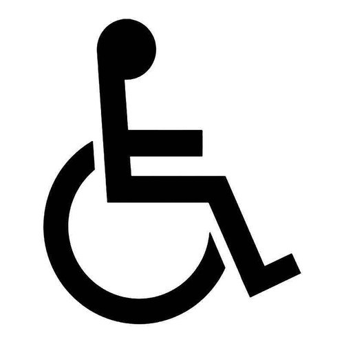 Handicap Wheelchair Sign 3 Vinyl Sticker