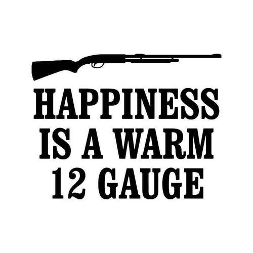 Happiness Shotgun Vinyl Sticker