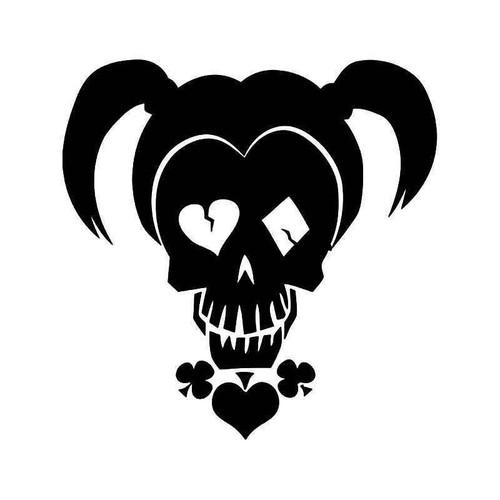 Harley Quinn Death Skull Vinyl Sticker