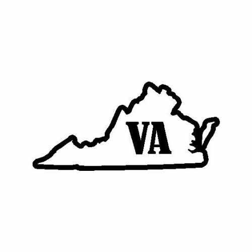 States Virginia  Vinyl Decal Sticker  Size option will determine the size from the longest side Industry standard high performance calendared vinyl film Cut from Oracle 651 2.5 mil Outdoor durability is 7 years Glossy surface finish