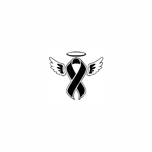 Memorial Ribbon Wings Halo Decal Size option will determine the size from the longest side Industry standard high performance calendared vinyl film Cut from Oracle 651 2.5 mil Outdoor durability is 7 years Glossy surface finish