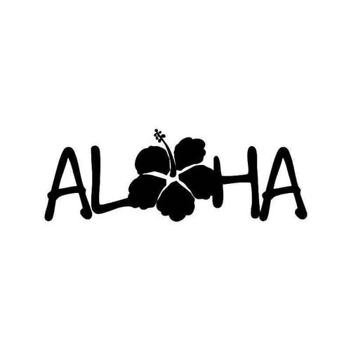 Hawaii Aloha Hibiscus Flower 1 Vinyl Sticker