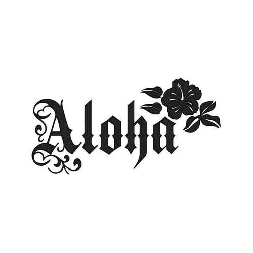 Hawaii Aloha Hibiscus Flower 4 Vinyl Sticker