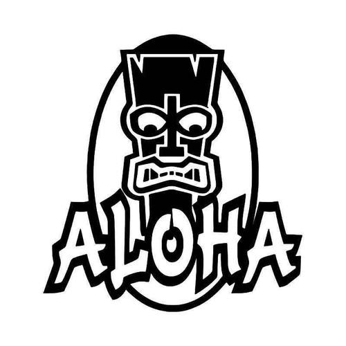 Hawaii Aloha Tiki Vinyl Sticker
