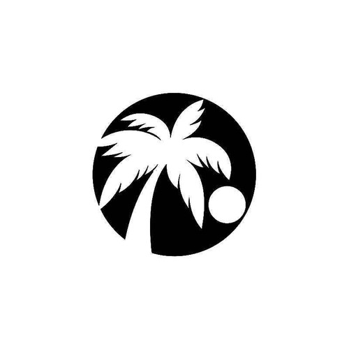 Hawaii Palm Tree 2 Vinyl Sticker
