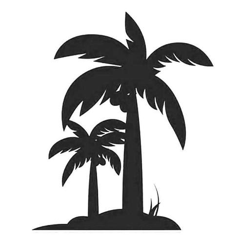 Hawaii Palm Tree 3 Vinyl Sticker