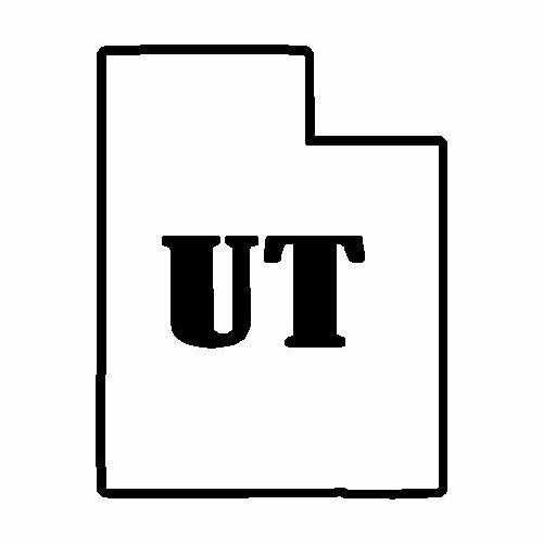 States Utah  Vinyl Decal Sticker  Size option will determine the size from the longest side Industry standard high performance calendared vinyl film Cut from Oracle 651 2.5 mil Outdoor durability is 7 years Glossy surface finish