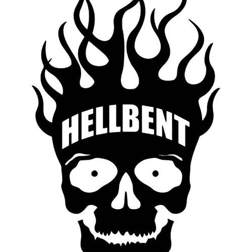 Hellbent Skull Vinyl Sticker