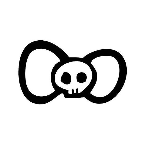 Hello Kitty Bow Tie Death Skull Vinyl Sticker