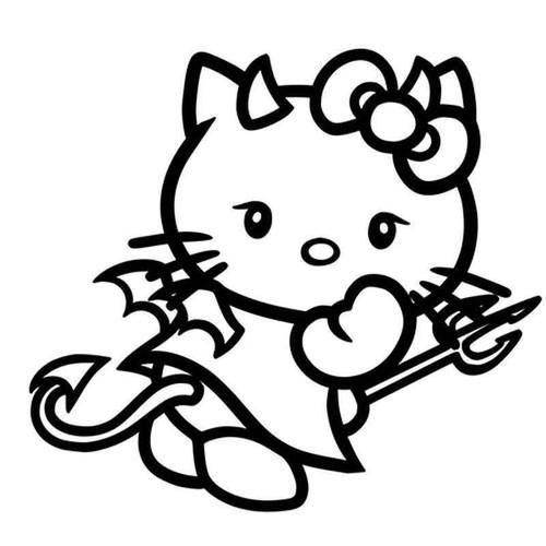 Hello Kitty Devil 960 Vinyl Sticker