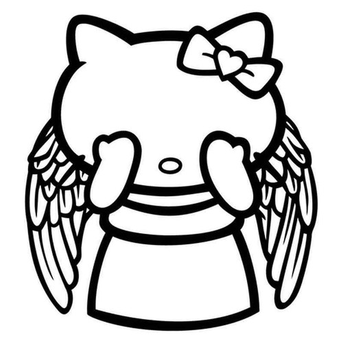 Hello Kitty Doctor Who Weeping Angel 1972 Vinyl Sticker