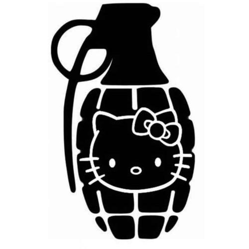 Hello Kitty Grenade 588 Vinyl Sticker