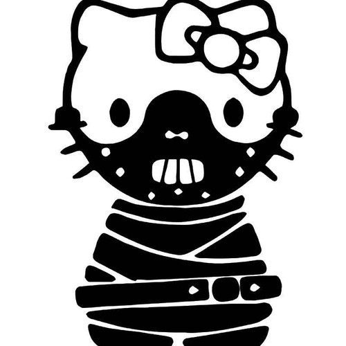Hello Kitty Hannibal Hecter Vinyl Sticker
