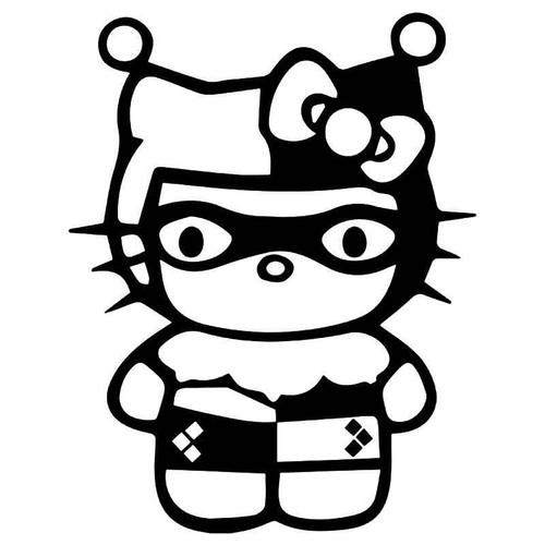 Hello Kitty Harley Quinn Vinyl Sticker