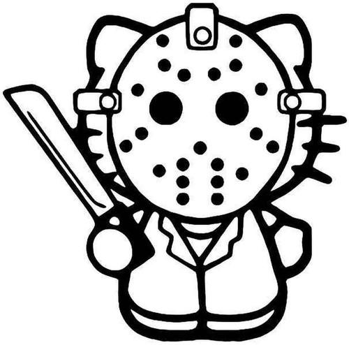Hello Kitty Jason Friday 13th