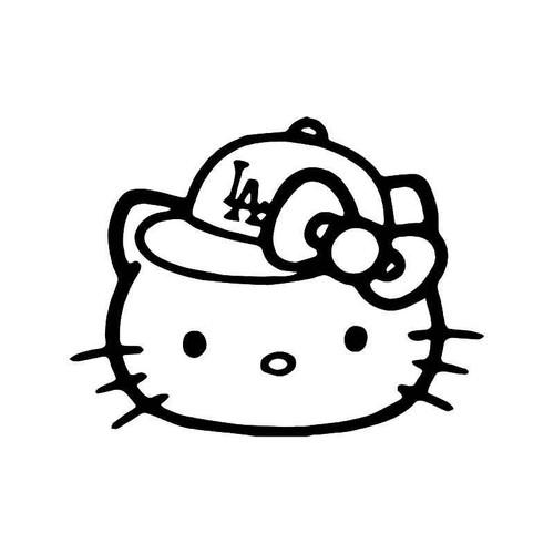 Hello Kitty Los Angeles Baseball Fan 1 Vinyl Sticker