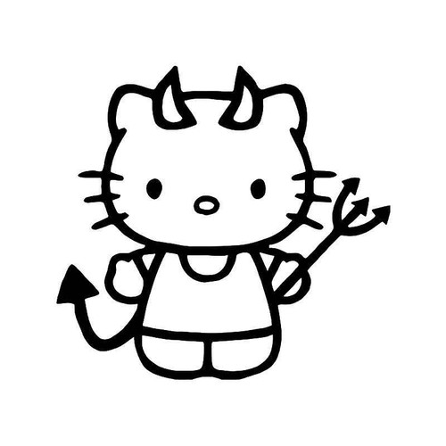 Hello Kitty Naughty Devil 1 Vinyl Sticker