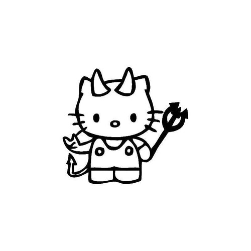 Hello Kitty Naughty Devil 2 Vinyl Sticker