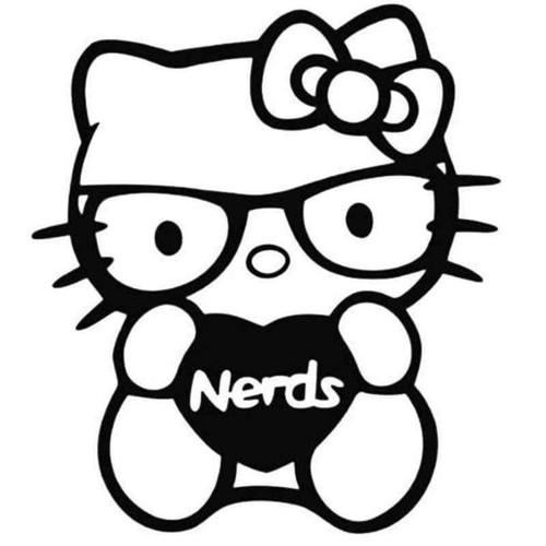 Hello Kitty Nerds 398 Vinyl Sticker