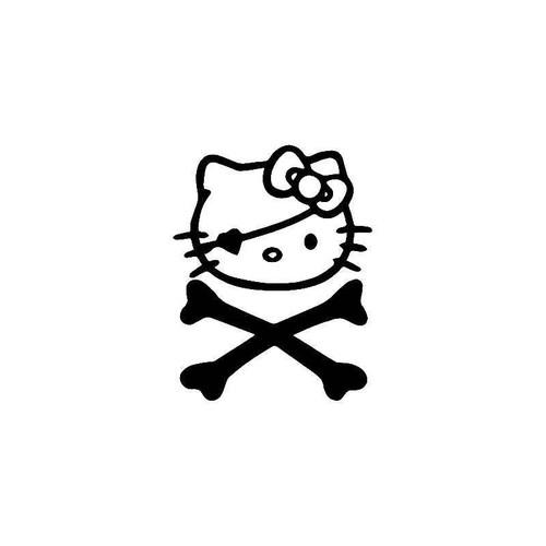 Hello Kitty Pirate Crossbones 2 Vinyl Sticker
