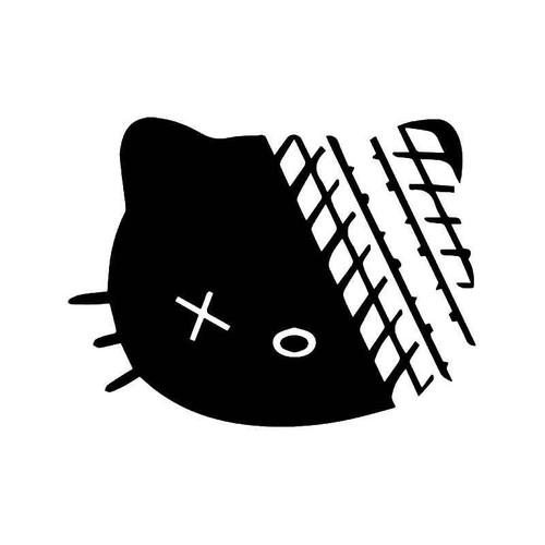 Hello Kitty Road Kill Vinyl Sticker