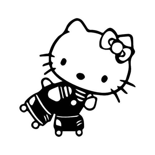 Hello Kitty Roller Skating Vinyl Sticker