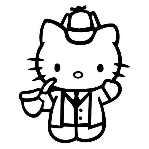 Hello Kitty Sherlock Holmes Vinyl Sticker